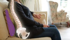 lumbar back Support For Sofa and how it supports the spine