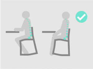Improved posture with RockBack Chair